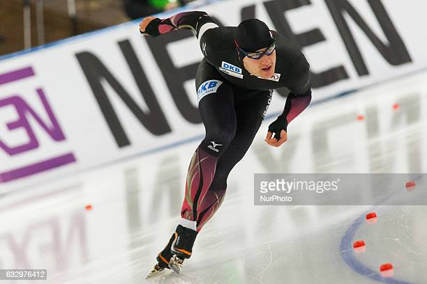 Nico Ihle during the ISU World Cup Speed Skating Day 2 at the Sportforum Berlin Stadium on January 28 2017 in Berlin Germany