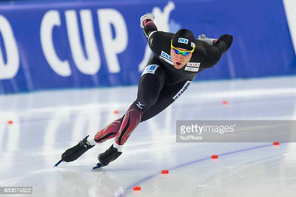 Nico Ihle during the ISU World Cup Speed Skating Day 3 at the Sportforum Berlin Stadium on January 29 2017 in Berlin Germany
