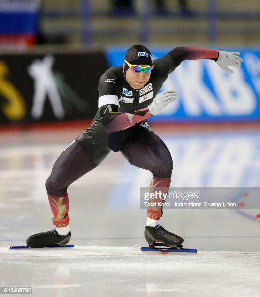 Nico Ihle of Germany competes in the men's 500 meter race during the ISU World Sprint Speed Skating Championships on February 26 2017 in Calgary...