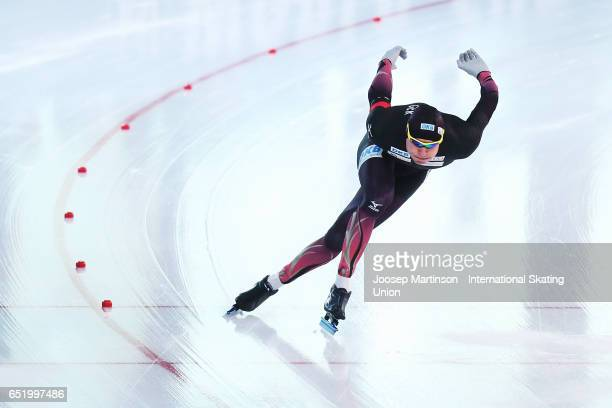 Nico Ihle of Germany competes in the Men's 500m during day 1 of the ISU World Cup Speed Skating at Soermarka Arena on March 11 2017 in Stavanger...
