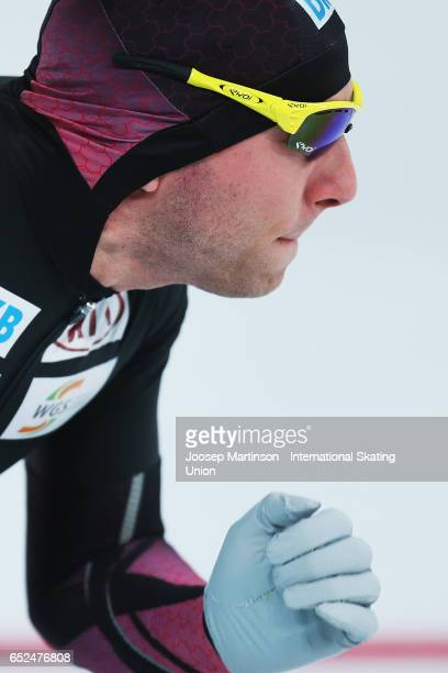 Nico Ihle of Germany prepares in the Men's 500m during day 2 of the ISU World Cup Speed Skating at Soermarka Arena on March 12 2017 in Stavanger...