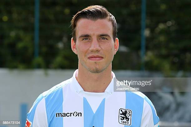 Nico Karger poses during the official team presentation of TSV 1860 Muenchen at Trainingsgelaende on July 22 2016 in Munich Germany