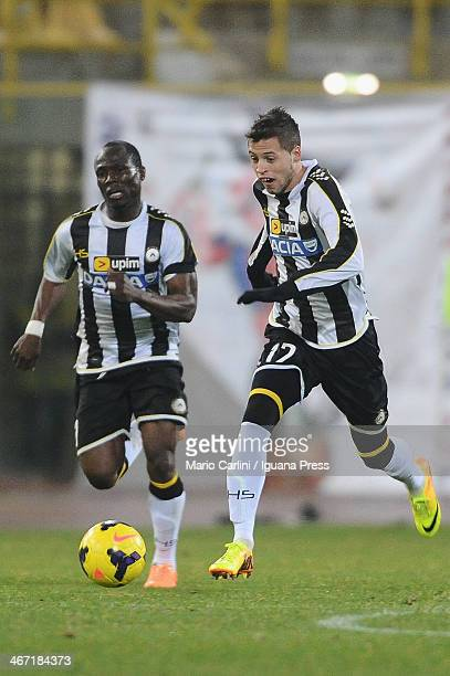 Nico Lopez of Udinese Calcio in action during the Serie A match between Bologna FC and Udinese Calcio at Stadio Renato Dall'Ara on February 1 2014 in...