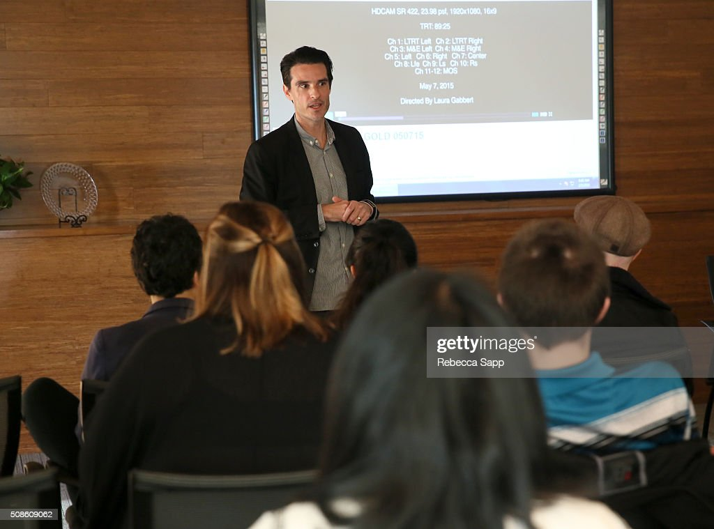Nico Maestu speaks at the Film Studies Welcome at the Santa Barbara Foundation at the 31st Santa Barbara International Film Festival on February 5, 2016 in Santa Barbara, California.