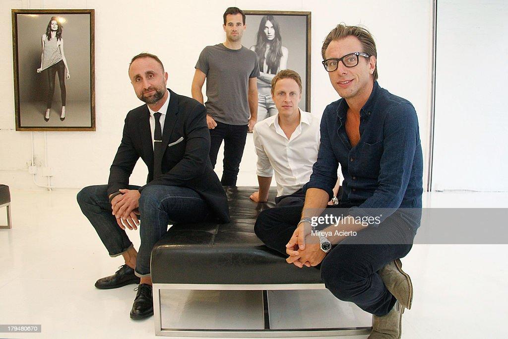 Nico Peyrache, Jens Grede, Josh LeVine and Erik Torstensson attend the Frame Denim presentation during Mercedes-Benz Fashion Week Spring 2014 at Openhouse Gallery on September 4, 2013 in New York City.