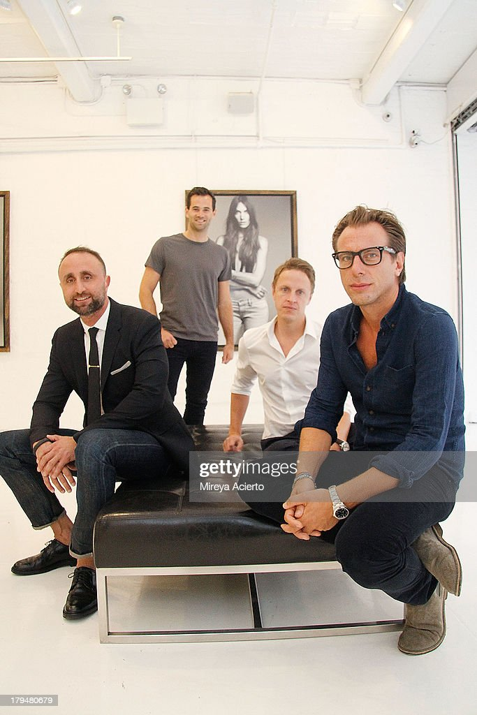 Nico Peyrache, Jens Grede, Josh LeVine and Erik Torstensson attend the Frame Denim presentation during Mercedes-Benz Fashion Week Spring 2014 at Openhouse Gallery on September 4, 2013 in New York City.