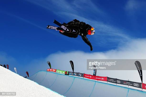 Nico Porteous of New Zealand competes during the Winter Games NZ FIS Freestyle Skiing World Cup Halfpipe Finals at Cardrona Alpine Resort on...