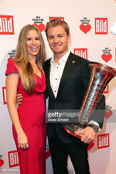 Nico Rosberg and his wife Vivian Sibold are seen during the Ein Herz Fuer Kinder reception at Adlershof Studio on December 3 2016 in Berlin Germany