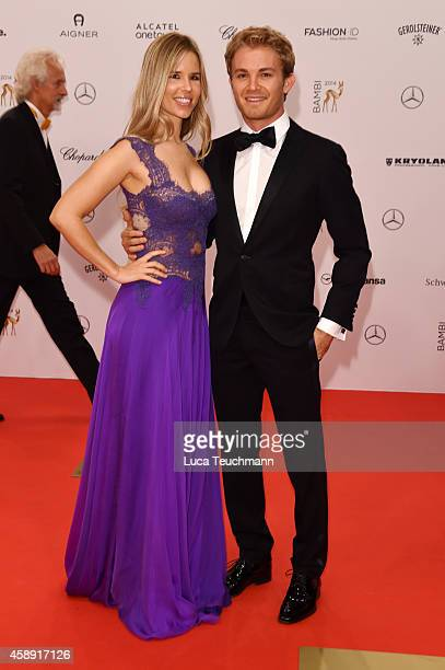 Nico Rosberg and his wife Vivian Sibold attend Kryolan at the Bambi Awards 2014 on November 13 2014 in Berlin Germany