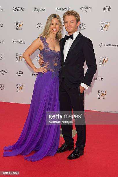 Nico Rosberg and his wife Vivian Sibold attend the Bambi Awards 2014 on November 13 2014 in Berlin Germany