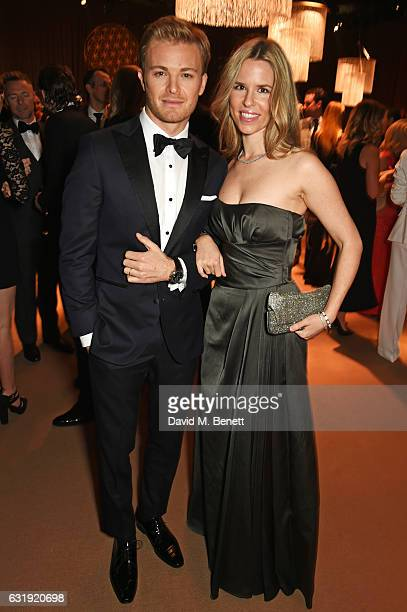 Nico Rosberg and Vivian Rosberg attend the IWC Schaffhausen 'Decoding the Beauty of Time' Gala Dinner during the launch of the Da Vinci Novelties...