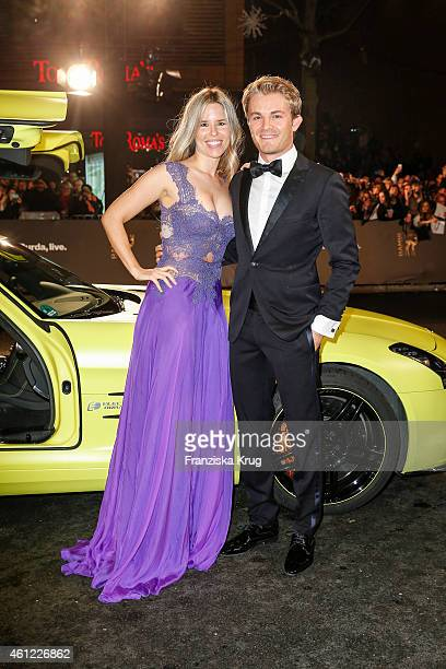 Nico Rosberg and Vivian Sibold arrive at the Bambi Awards 2014 on November 13 2014 in Berlin Germany