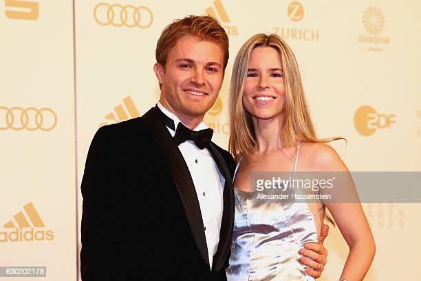 Nico Rosberg arrives with his iwfe Vivian Rosberg for the Sportler des Jahres 2016 gala at Kurhaus BadenBaden on December 18 2016 in BadenBaden...