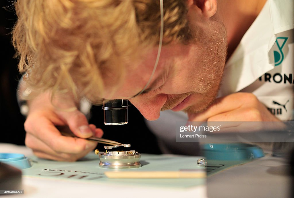 <a gi-track='captionPersonalityLinkClicked' href=/galleries/search?phrase=Nico+Rosberg&family=editorial&specificpeople=800808 ng-click='$event.stopPropagation()'>Nico Rosberg</a> attends a watchmaking class by swiss watch manufacturer IWC at The Charles Hotel on December 12, 2013 in Munich, Germany.