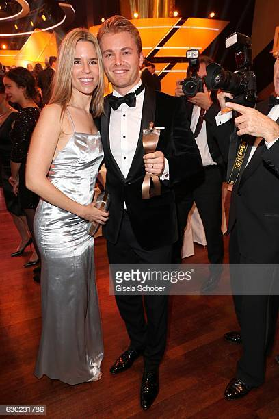 Nico Rosberg Formula One F1 driver and World Champion 2016 and his wife Vivian Sibold Rosberg with award during the 'Sportler des Jahres 2016' Gala...