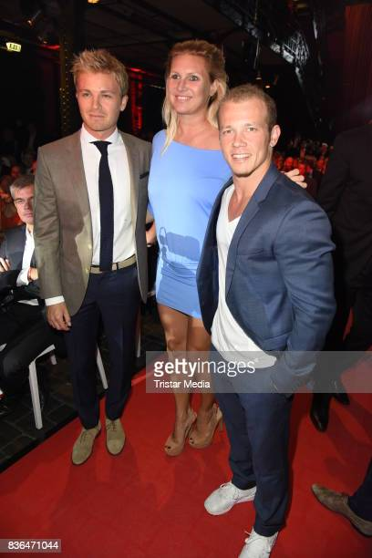 Nico Rosberg Magdalena Brzeska and Fabian Hambuechen attend the Sport Bild Award on August 21 2017 in Hamburg Germany