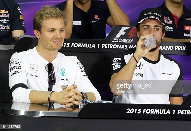 Nico Rosberg Mercedes Grand Prix Fernando Alonso McLaren Honda formula 1 GP Malaysia in Kuala Lumpur/Sepang