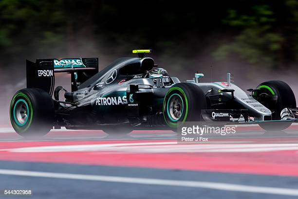 Nico Rosberg of Germany and Mercedes during qualifying for the Formula One Grand Prix of Austria at Red Bull Ring on July 2 2016 in Spielberg Austria