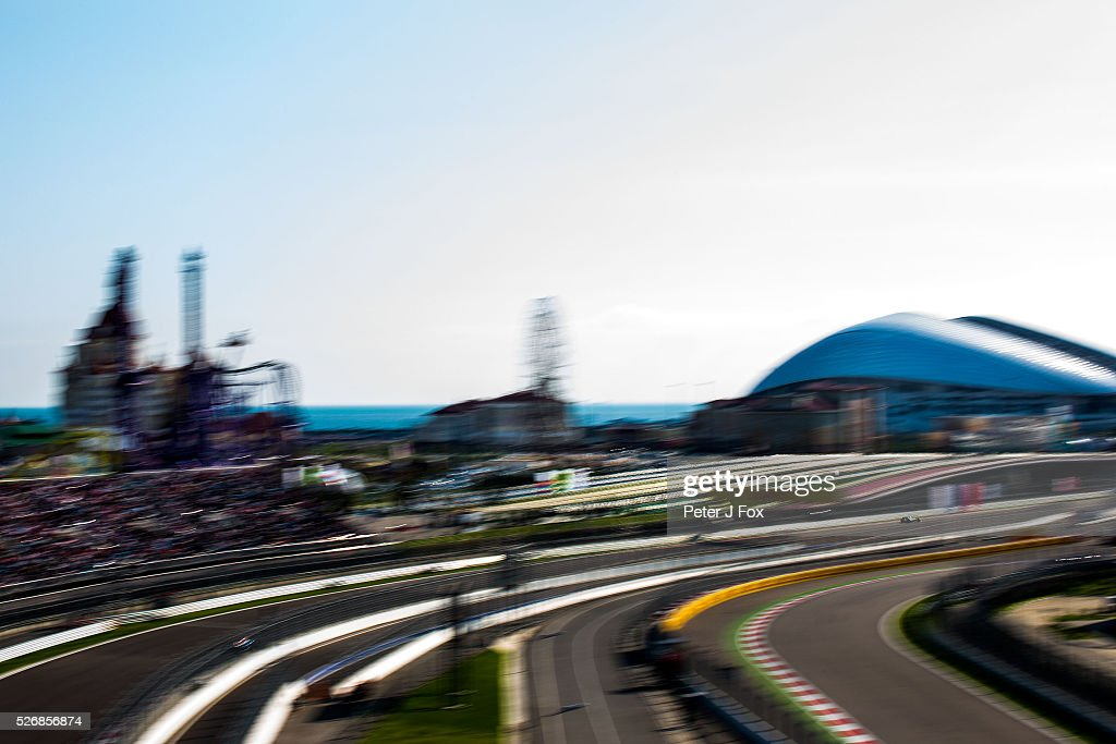 Nico Rosberg of Germany and Mercedes during the Formula One Grand Prix of Russia at Sochi Autodrom on May 1, 2016 in Sochi, Russia.