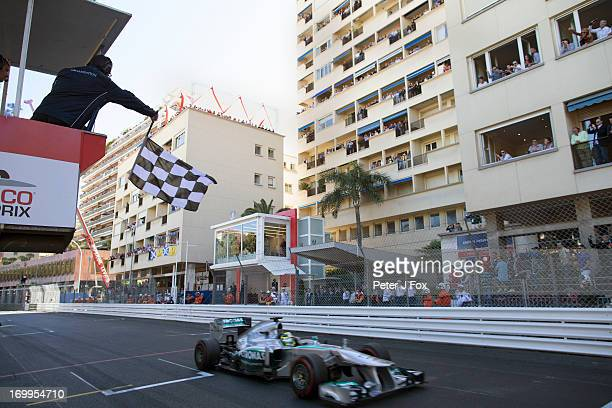 Nico Rosberg of Germany and Mercedes during the Monaco Formula One Grand Prix at the Circuit de Monaco on May 26 2013 in MonteCarlo Monaco