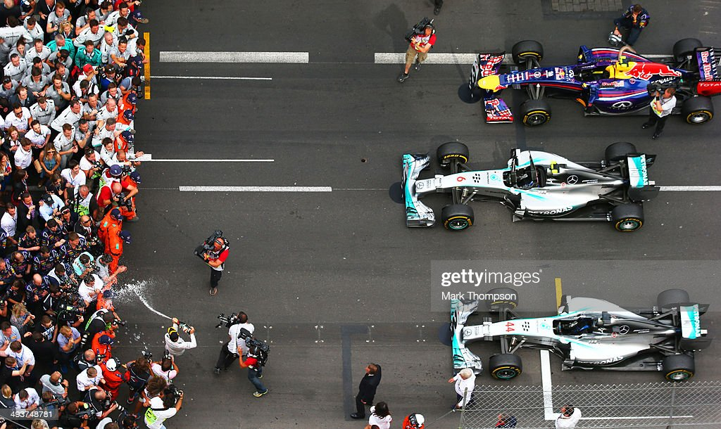 <a gi-track='captionPersonalityLinkClicked' href=/galleries/search?phrase=Nico+Rosberg&family=editorial&specificpeople=800808 ng-click='$event.stopPropagation()'>Nico Rosberg</a> of Germany and Mercedes GP celebrates following his victory during the Monaco Formula One Grand Prix at Circuit de Monaco on May 25, 2014 in Monte-Carlo, Monaco.