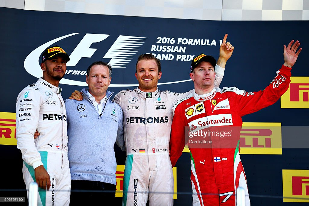 <a gi-track='captionPersonalityLinkClicked' href=/galleries/search?phrase=Nico+Rosberg&family=editorial&specificpeople=800808 ng-click='$event.stopPropagation()'>Nico Rosberg</a> of Germany and Mercedes GP celebrates his win on the podium with <a gi-track='captionPersonalityLinkClicked' href=/galleries/search?phrase=Lewis+Hamilton&family=editorial&specificpeople=586983 ng-click='$event.stopPropagation()'>Lewis Hamilton</a> of Great Britain and Mercedes GP and <a gi-track='captionPersonalityLinkClicked' href=/galleries/search?phrase=Kimi+Raikkonen&family=editorial&specificpeople=201904 ng-click='$event.stopPropagation()'>Kimi Raikkonen</a> of Finland and Ferrari during the Formula One Grand Prix of Russia at Sochi Autodrom on May 1, 2016 in Sochi, Russia.