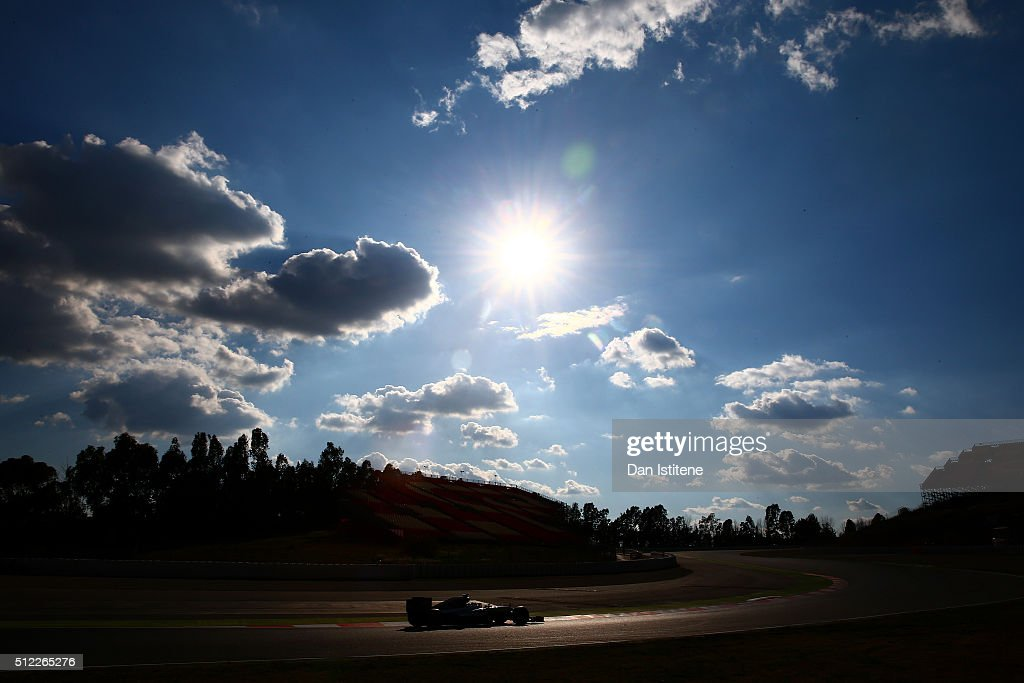 Nico Rosberg of Germany and Mercedes GP drives during day four of F1 winter testing at Circuit de Catalunya on February 25, 2016 in Montmelo, Spain.