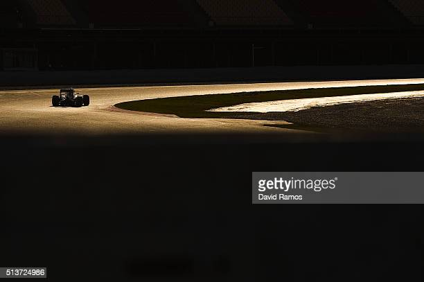 Nico Rosberg of Germany and Mercedes GP drives during day four of F1 winter testing at Circuit de Catalunya on March 4 2016 in Montmelo Spain