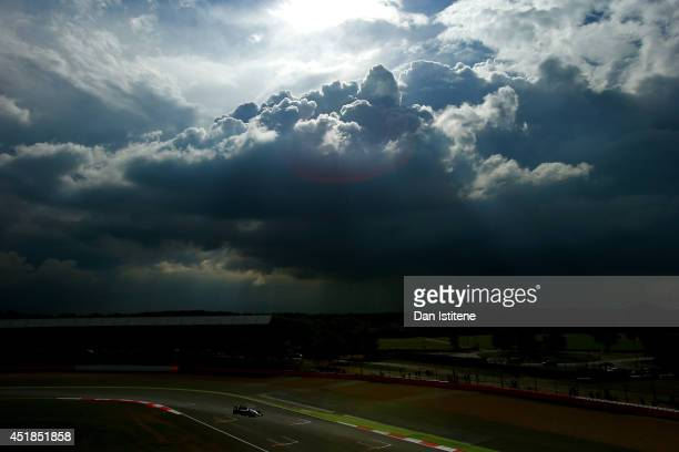 Nico Rosberg of Germany and Mercedes GP drives during day one of testing at Silverstone Circuit on July 8 2014 in Northampton England
