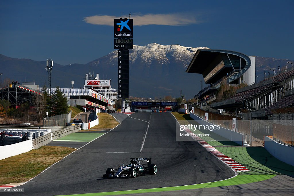 Nico Rosberg of Germany and Mercedes GP drives during day one of F1 winter testing at Circuit de Catalunya on March 1 2016 in Montmelo Spain