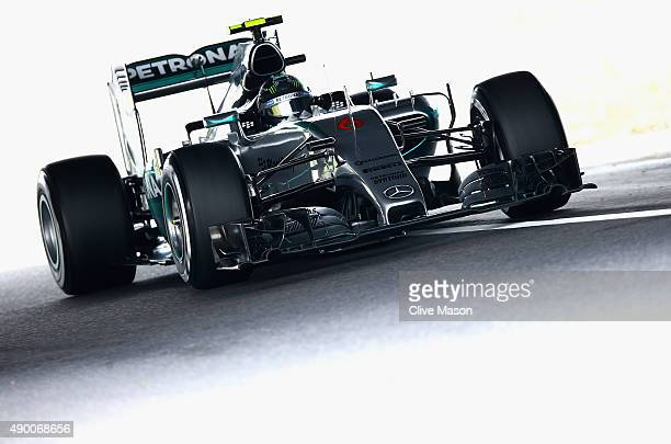 Nico Rosberg of Germany and Mercedes GP drives during final practice for the Formula One Grand Prix of Japan at Suzuka Circuit on September 26 2015...