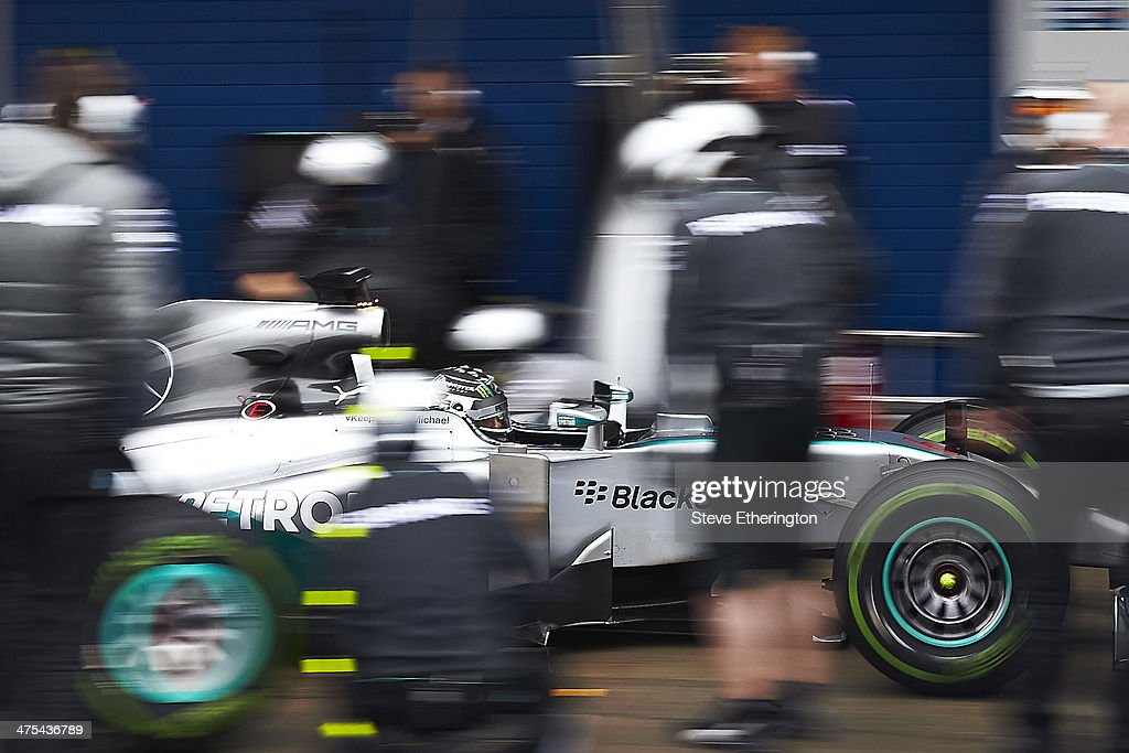 <a gi-track='captionPersonalityLinkClicked' href=/galleries/search?phrase=Nico+Rosberg&family=editorial&specificpeople=800808 ng-click='$event.stopPropagation()'>Nico Rosberg</a> of Germany and Mercedes GP drives during Formula One Winter Testing at the Circuito de Jerez on January 29, 2014 in Jerez de la Frontera, Spain.