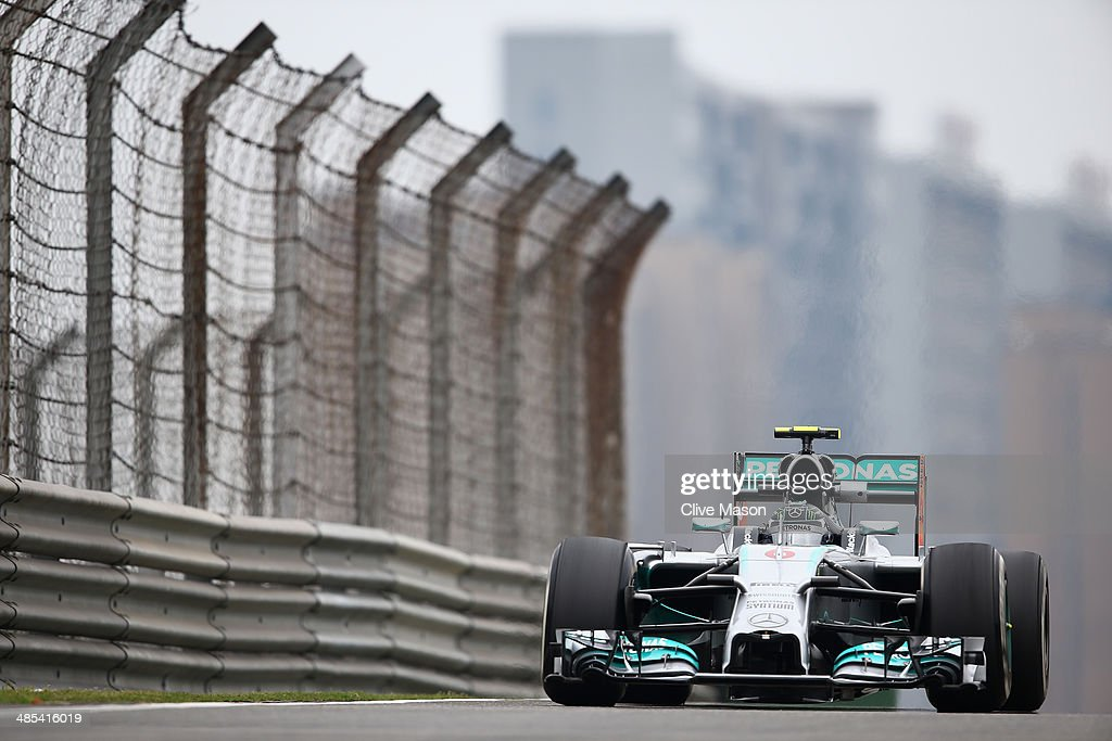 <a gi-track='captionPersonalityLinkClicked' href=/galleries/search?phrase=Nico+Rosberg&family=editorial&specificpeople=800808 ng-click='$event.stopPropagation()'>Nico Rosberg</a> of Germany and Mercedes GP drives during practice ahead of the Chinese Formula One Grand Prix at the Shanghai International Circuit on April 18, 2014 in Shanghai, China.