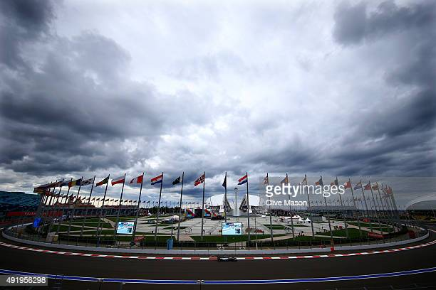 Nico Rosberg of Germany and Mercedes GP drives during practice for the Formula One Grand Prix of Russia at Sochi Autodrom on October 9 2015 in Sochi...