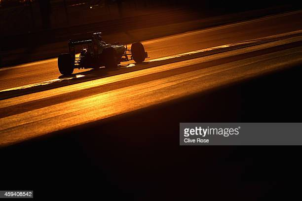 Nico Rosberg of Germany and Mercedes GP drives during qualifying for the Abu Dhabi Formula One Grand Prix at Yas Marina Circuit on November 22 2014...