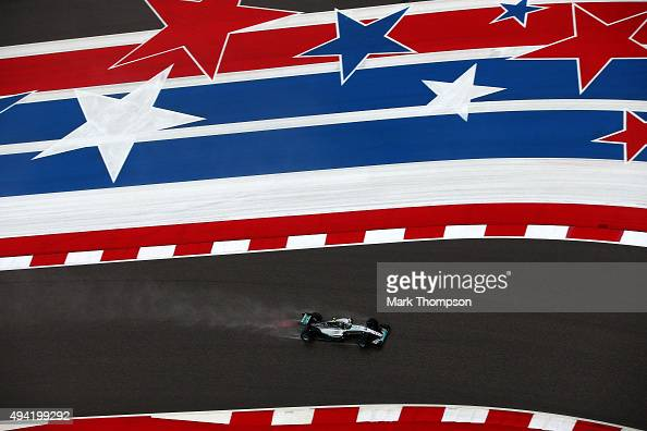 Nico Rosberg of Germany and Mercedes GP drives during qualifying before the United States Formula One Grand Prix at Circuit of The Americas on...