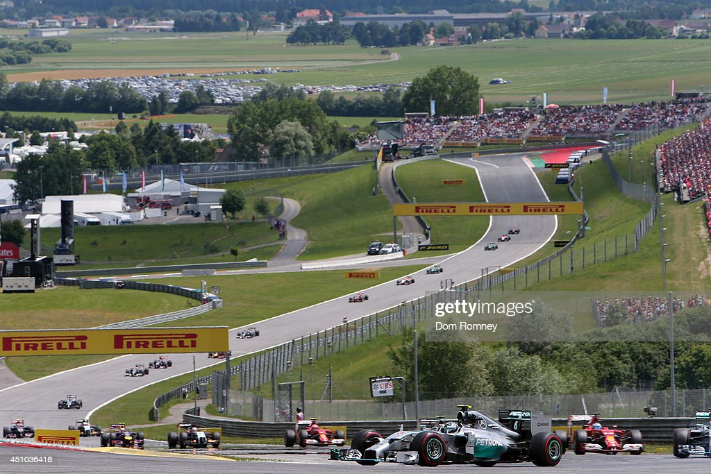 Nico Rosberg of Germany and Mercedes GP drives during the Austrian Formula One Grand Prix at Red Bull Ring on June 22 2014 in Spielberg Austria
