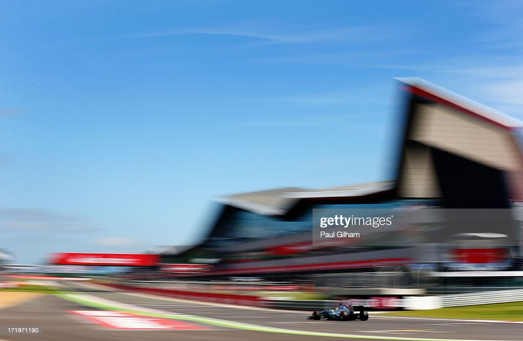 Nico Rosberg of Germany and Mercedes GP drives during the British Formula One Grand Prix at Silverstone Circuit on June 30, 2013 in Northampton, England.