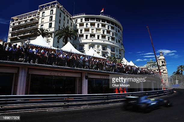 Nico Rosberg of Germany and Mercedes GP drives during the Monaco Formula One Grand Prix at the Circuit de Monaco on May 26 2013 in MonteCarlo Monaco
