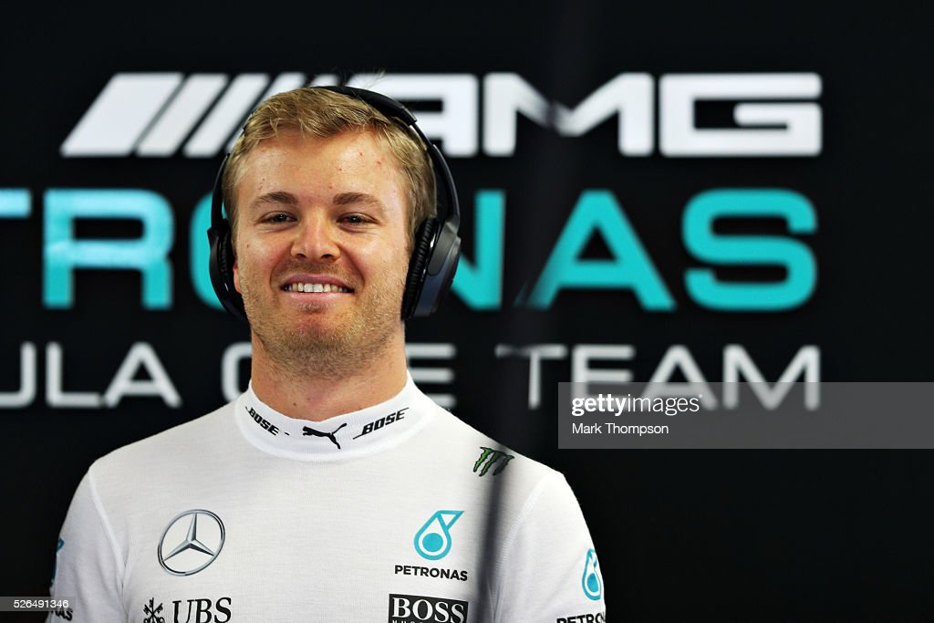 <a gi-track='captionPersonalityLinkClicked' href=/galleries/search?phrase=Nico+Rosberg&family=editorial&specificpeople=800808 ng-click='$event.stopPropagation()'>Nico Rosberg</a> of Germany and Mercedes GP in the garage during qualifying for the Formula One Grand Prix of Russia at Sochi Autodrom on April 30, 2016 in Sochi, Russia.
