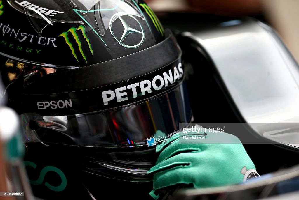 <a gi-track='captionPersonalityLinkClicked' href=/galleries/search?phrase=Nico+Rosberg&family=editorial&specificpeople=800808 ng-click='$event.stopPropagation()'>Nico Rosberg</a> of Germany and Mercedes GP in the Pitlane during practice for the Formula One Grand Prix of Austria at Red Bull Ring on July 1, 2016 in Spielberg, Austria.