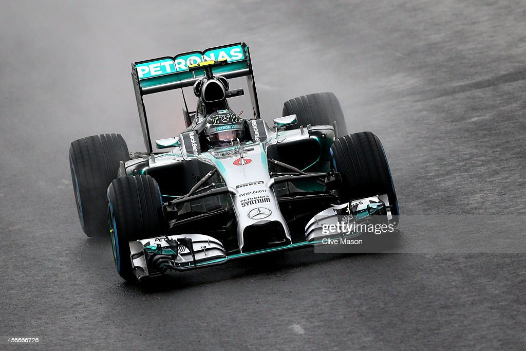 Nico Rosberg of Germany and Mercedes GP leads during the Japanese Formula One Grand Prix at Suzuka Circuit on October 5 2014 in Suzuka Japan