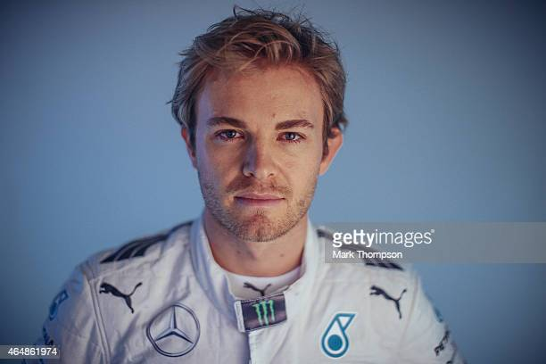 Nico Rosberg of Germany and Mercedes GP poses for a portrait during day three of Formula One Winter Testing at Circuit de Catalunya on February 21...