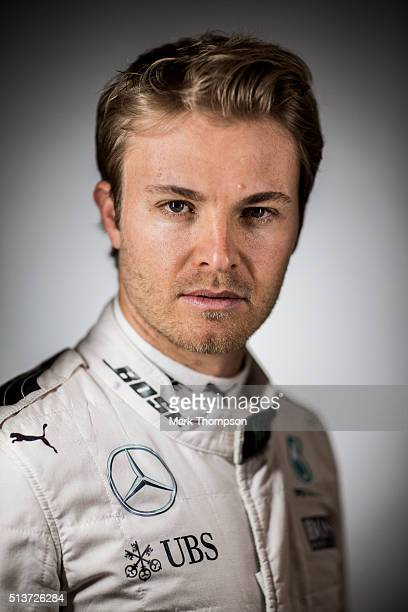 Nico Rosberg of Germany and Mercedes GP poses for a portrait during day two of F1 winter testing at Circuit de Catalunya on March 2 2016 in Montmelo...