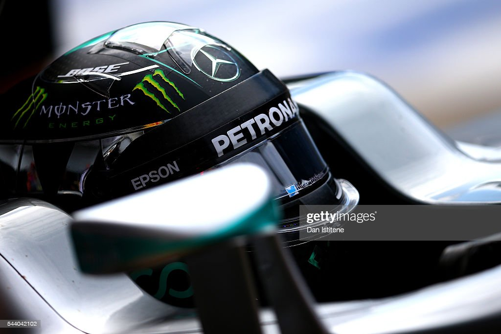 <a gi-track='captionPersonalityLinkClicked' href=/galleries/search?phrase=Nico+Rosberg&family=editorial&specificpeople=800808 ng-click='$event.stopPropagation()'>Nico Rosberg</a> of Germany and Mercedes GP returns to the garage during practice for the Formula One Grand Prix of Austria at Red Bull Ring on July 1, 2016 in Spielberg, Austria.