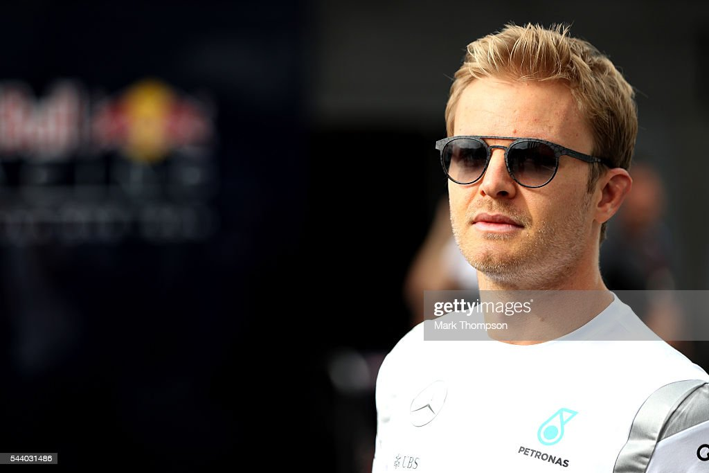 <a gi-track='captionPersonalityLinkClicked' href=/galleries/search?phrase=Nico+Rosberg&family=editorial&specificpeople=800808 ng-click='$event.stopPropagation()'>Nico Rosberg</a> of Germany and Mercedes GP walks in the Paddock during practice for the Formula One Grand Prix of Austria at Red Bull Ring on July 1, 2016 in Spielberg, Austria.