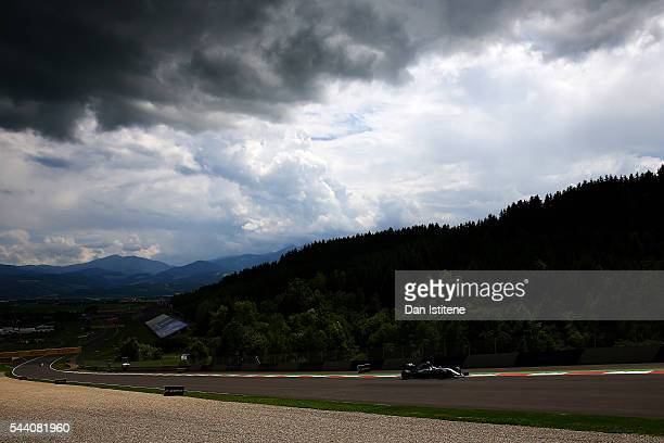 Nico Rosberg of Germany drives the Mercedes AMG Petronas F1 Team Mercedes F1 WO7 Mercedes PU106C Hybrid turbo during practice for the Formula One...