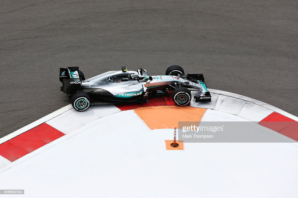 Nico Rosberg of Germany driving the (6) Mercedes AMG Petronas F1 Team Mercedes F1 WO7 Mercedes PU106C Hybrid turbo on track during final practice ahead of the Formula One Grand Prix of Russia at Sochi Autodrom on April 30, 2016 in Sochi, Russia.