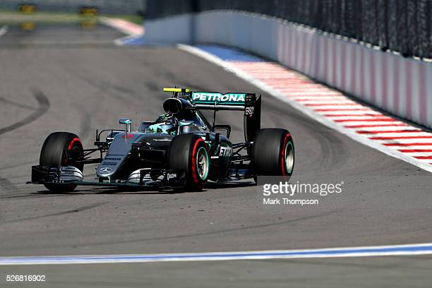 Nico Rosberg of Germany driving the Mercedes AMG Petronas F1 Team Mercedes F1 WO7 Mercedes PU106C Hybrid turbo on track during the Formula One Grand...