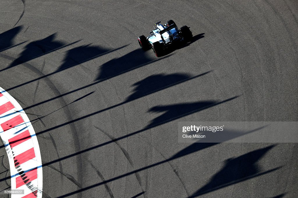 <a gi-track='captionPersonalityLinkClicked' href=/galleries/search?phrase=Nico+Rosberg&family=editorial&specificpeople=800808 ng-click='$event.stopPropagation()'>Nico Rosberg</a> of Germany driving the (6) Mercedes AMG Petronas F1 Team Mercedes F1 WO7 Mercedes PU106C Hybrid turbo on track during the Formula One Grand Prix of Russia at Sochi Autodrom on May 1, 2016 in Sochi, Russia.